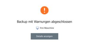 OS X Mojave - Backup mit Warnungen abgeschlossen